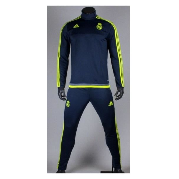 Survêtement Training Real Madrid 2015 2016 Gris gris Achat / Vente