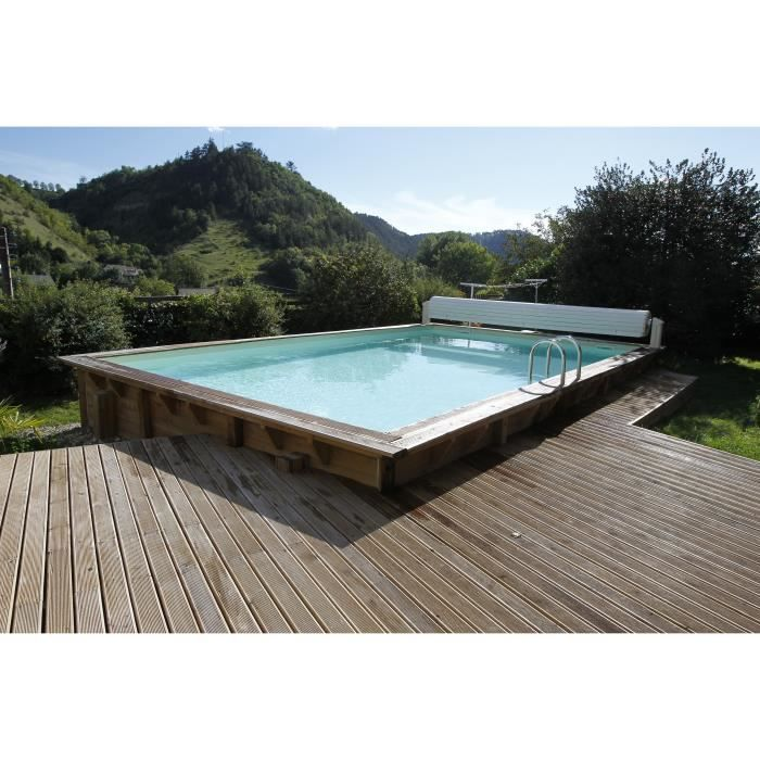ubbink piscine octogonale en bois sunwater 300x555xh140 cm liner sable achat vente piscine. Black Bedroom Furniture Sets. Home Design Ideas