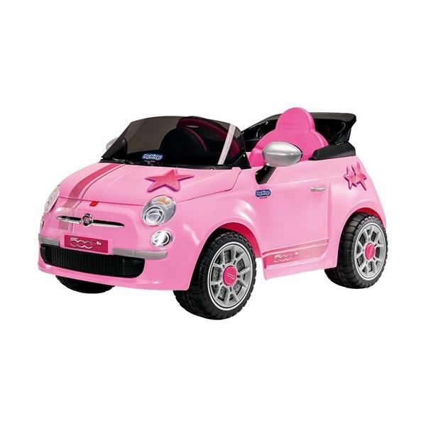 voiture lectrique pour enfant fiat 500 start rose achat vente voiture enfant cdiscount. Black Bedroom Furniture Sets. Home Design Ideas