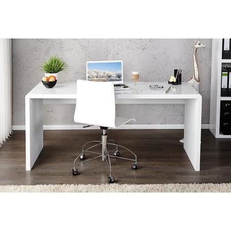 bureau design el gance blanc laqu 120 cm achat vente bureau bureau design el gance blan. Black Bedroom Furniture Sets. Home Design Ideas