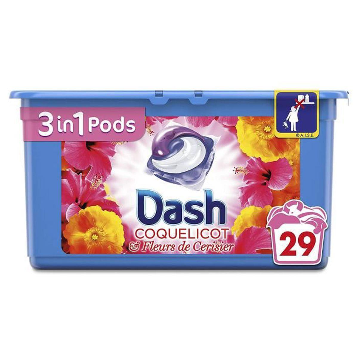 LESSIVE DASH 3en1 Lessive en Capsules Coquelicot/Fleurs de
