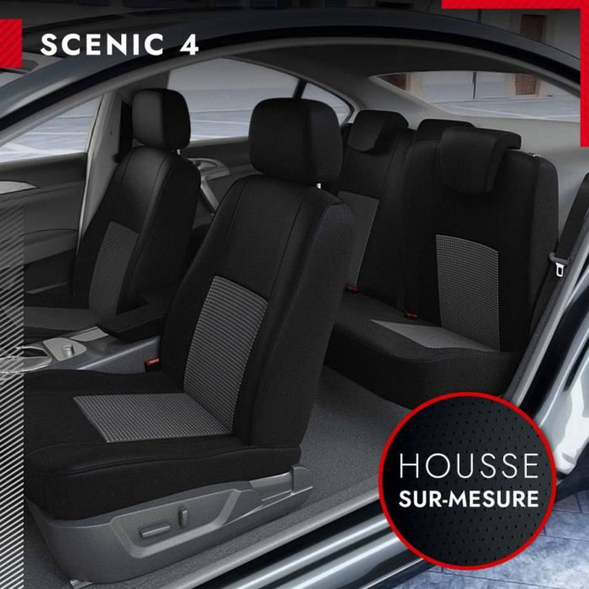 housse si ges voiture sur mesure renault scenic 4 10 2016 2017 achat vente housse de. Black Bedroom Furniture Sets. Home Design Ideas