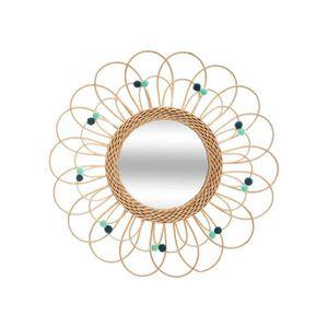 Atmosphera Set 3 miroirs en rotin Soleil diam/ètre 28 cm