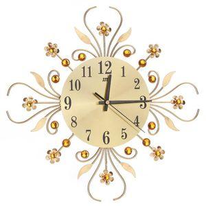 """Horloge Murale Geante,17.7/"""" pour le salon//cuisine//Chambre /à Coucher 45 cm or Europ/éen Style Horlog Pendule Murale vintage silencieuse sans sons de tiques Art Du Bois Fait /à la Main en 3D Dans"""
