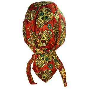 FOULARD - CRAVATE bandana tete de mort rose rouge mexicain sugar sku