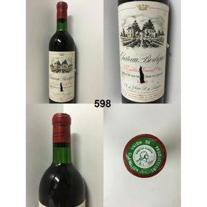VIN ROUGE Château Berliquet 1970 - Casier : 598