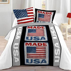 housse de couette usa achat vente housse de couette usa pas cher cdiscount. Black Bedroom Furniture Sets. Home Design Ideas