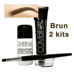 COLORATION 2 kits Combinal teinture brun 15ml pour cils et so