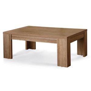 TABLE BASSE Table basse couleur chêne clair contemporaine ARAM