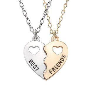 SAUTOIR ET COLLIER 2 Colliers Pendentif Best Friends Coeur à séparer