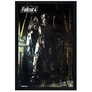 AFFICHE - POSTER Maxi Poster 61 x 91,5 cm cadre en bois noir Power