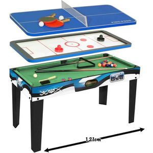 Table multi jeux achat vente pas cher cdiscount for Table 4 en 1 intersport
