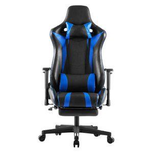 CHAISE DE BUREAU Chaise Gamer - Bleu - 69x76,5x128-138cm H - Fauteu