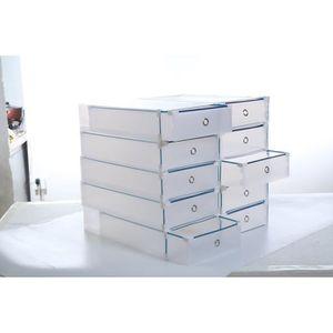 BOITE POUR ALIMENTATION La mode Boîte à tiroirs Boîte à chaussures transpa