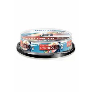 CD - DVD VIERGE Philips DVD+R DR8S8B10F-00, 8,5 Go, DVD+R DL, 10 p