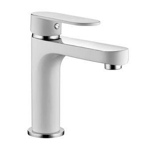 ROBINETTERIE SDB ROUSSEAU Robinet mitigeur lavabo Adaman - Blanc