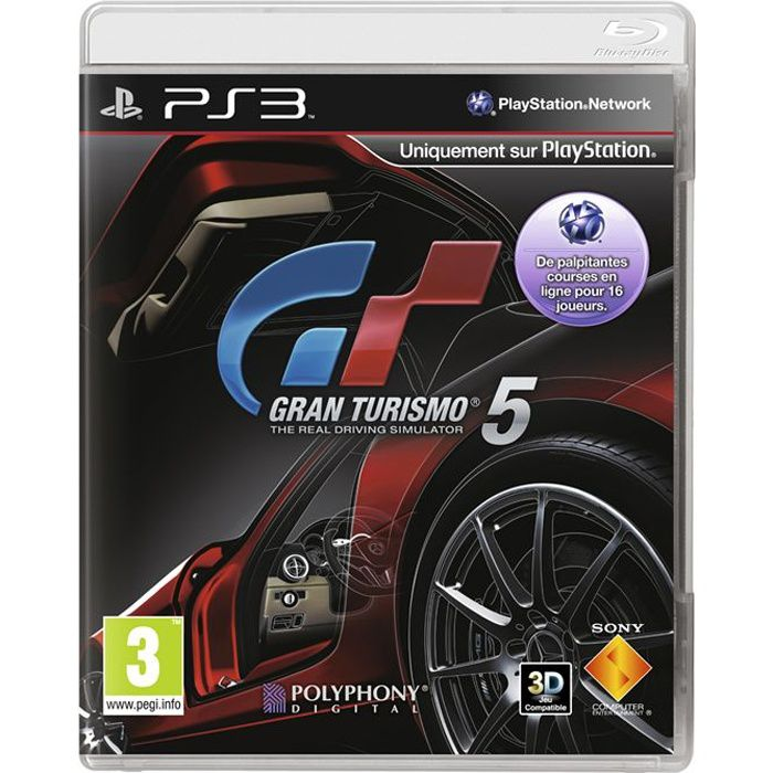 gran turismo 5 3d jeu console ps3 achat vente jeu ps3 gran turismo 5 3d ps3 cdiscount. Black Bedroom Furniture Sets. Home Design Ideas