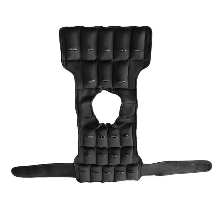 SOARROC VESTE LESTEE Gilet de poids noir ajustable Max charge 10kg Exercices d'entraînement
