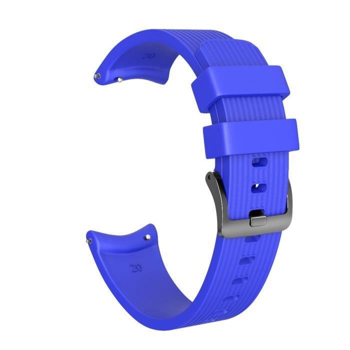 Grande sangle de poignet de bande de montre de remplacement en silicone pour Garmin Forerunner 245 - 245M FQQ90812104BU_276