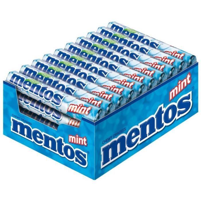 Mentos Mint, bonbons à mâcher, 40 pièces