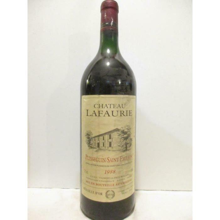 magnum 150 cl puisseguin saint-émilion château lafaurie rouge 1988 - bordeaux