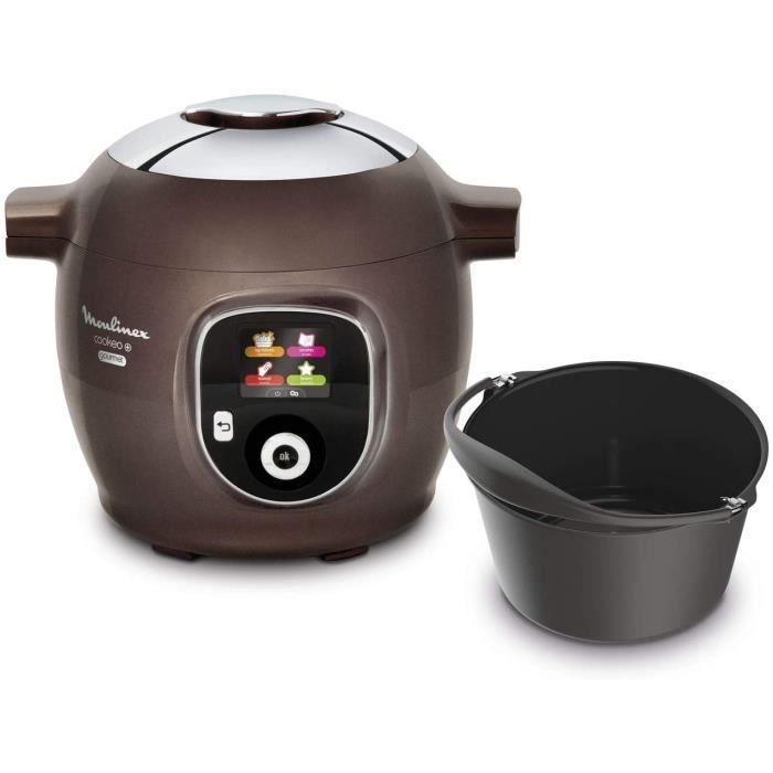 Multicuiseur Intelligent Cookeo + Gourmet 6L 6 Modes de Cuisson 150 Recettes Préprogrammées Jusqu'à 6 Personnes + Moule à Gâteaux in