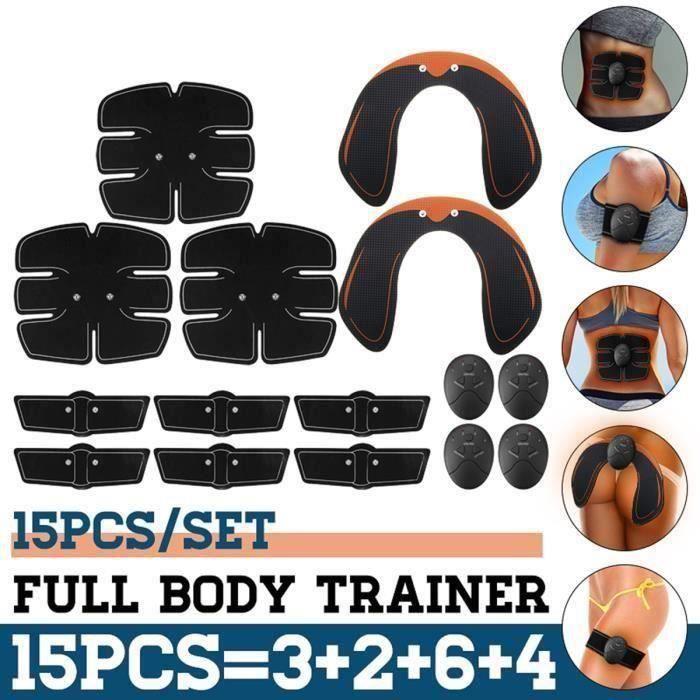 15PCS Kit Hanche Abdominale Bras Entraîneur Muscle Stimulation Fesses Levage Ro43700