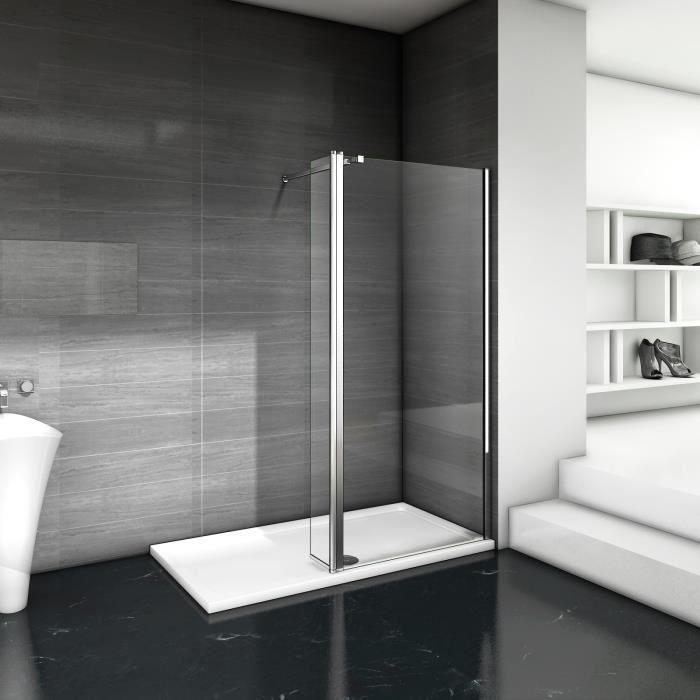 Paroi de douche avec volet pivotant 60+30x200cm modèle d' Itaroi avec une barre 90cm