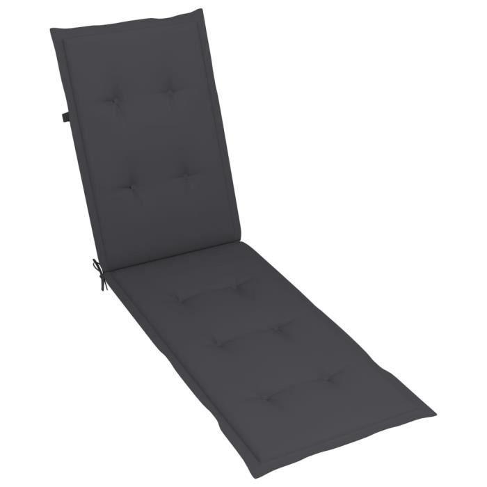 NEW!1755Haute qualité Coussin de Chaise Fauteuil de Jardin terrasse Relax - Matelas Coussin de chaise de terrasse Confort Anthracite