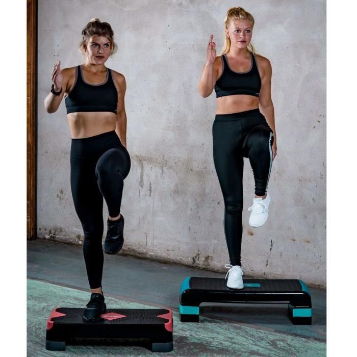 PRO© Step de fitness Haute qualité - Stepper petit 66x25x15 cm 22422 :-)