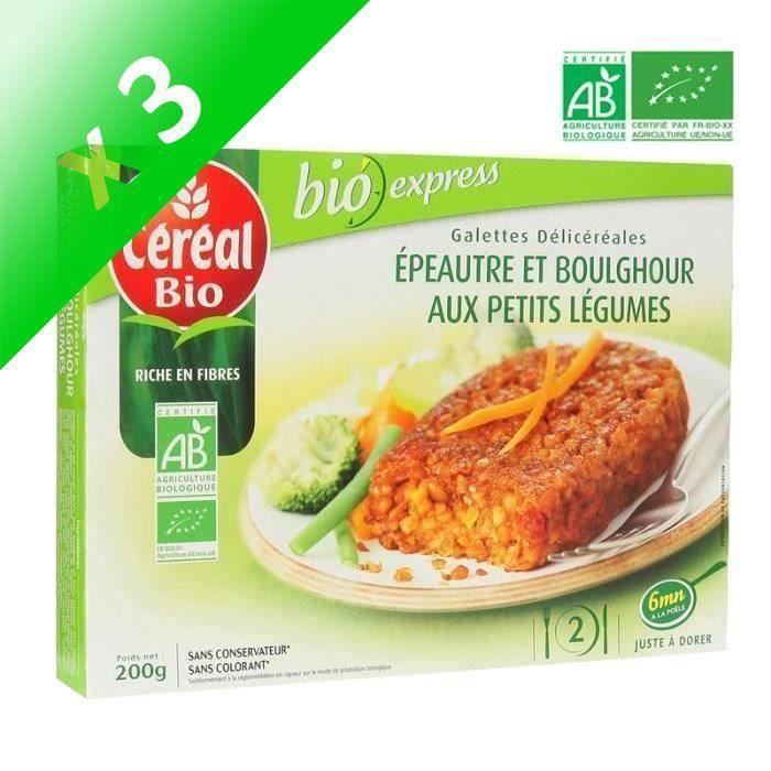 [LOT DE 3] Galettes epeautre légumes bio 200 g Cereal Bio