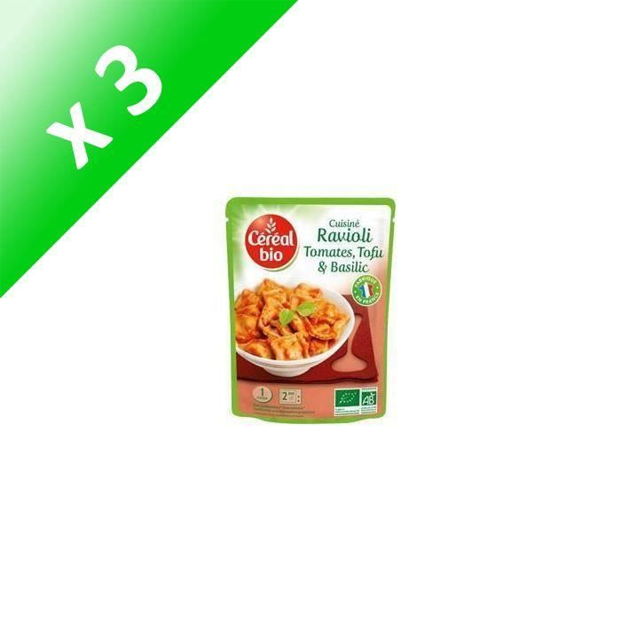 [LOT DE 3] Ravioli tofu basilic 267 g Cereal Bio