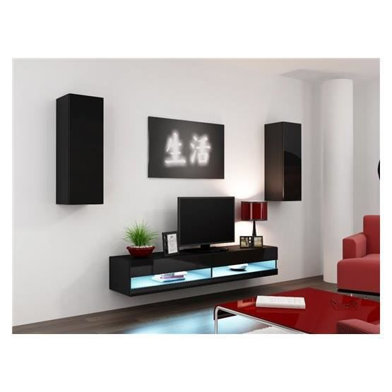 Ensemble Meuble tv design VALOR noir