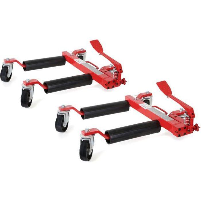 EBERTH 2x 12- Chariots de manutention pour véhicules (2 Pièce, 680 kg Charge par pièce, 630 mm Extension, 285 mm Hauteur de levage)