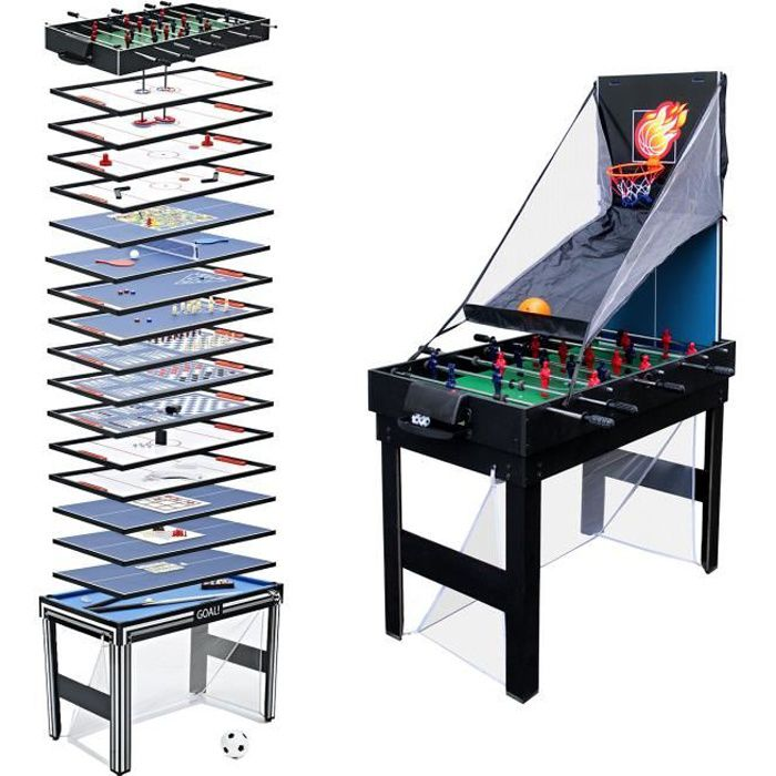 Table multi-jeux 20 en 1