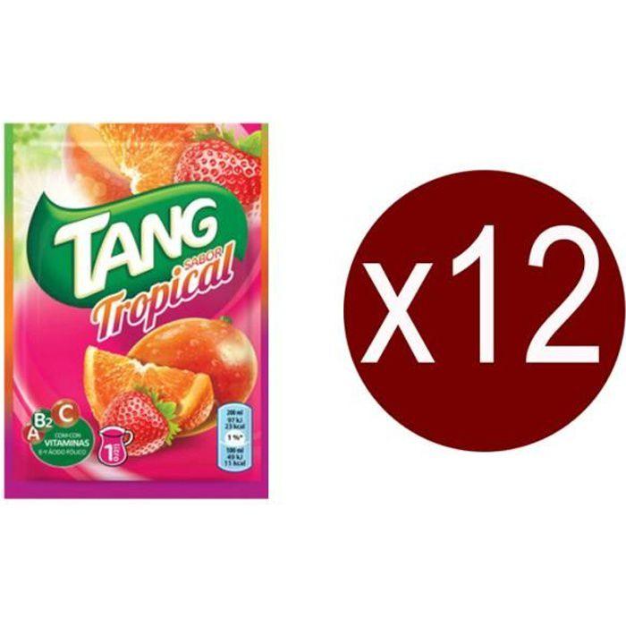 12 sachets Tang Tropical.Boisson en poudre.