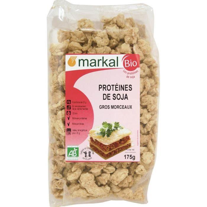 Protéines de Soja Markal Bio 175g - gros morceaux