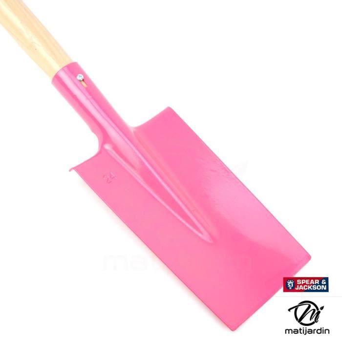 Bêche rose avec manche bois. Spear & Jackson - Produit neuf