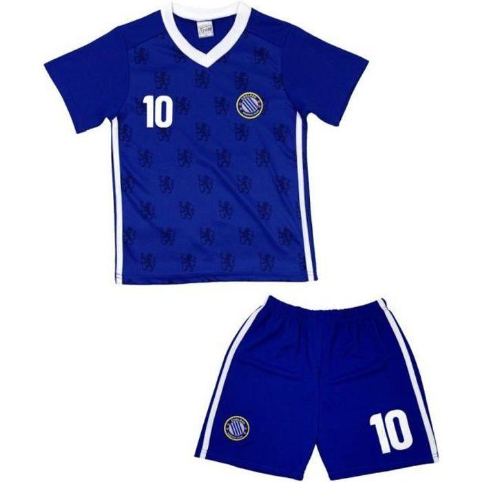 Ensemble De Vetements De Football - Tenue De Football - NPZ - Ensemble short et maillot de foot CHELSEA enfant Taille de 4 à 14 ans
