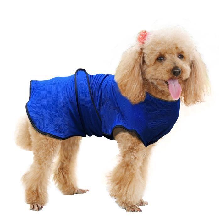 Manteau rafraîchissant pour chien manteau d'été taille M polyester bleu