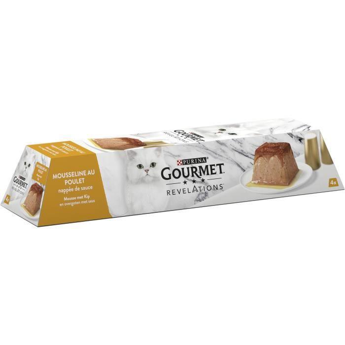 PURINA GOURMET™ REVELATIONS™ Mousseline au Poulet nappée de sauce - 4 x 57 g