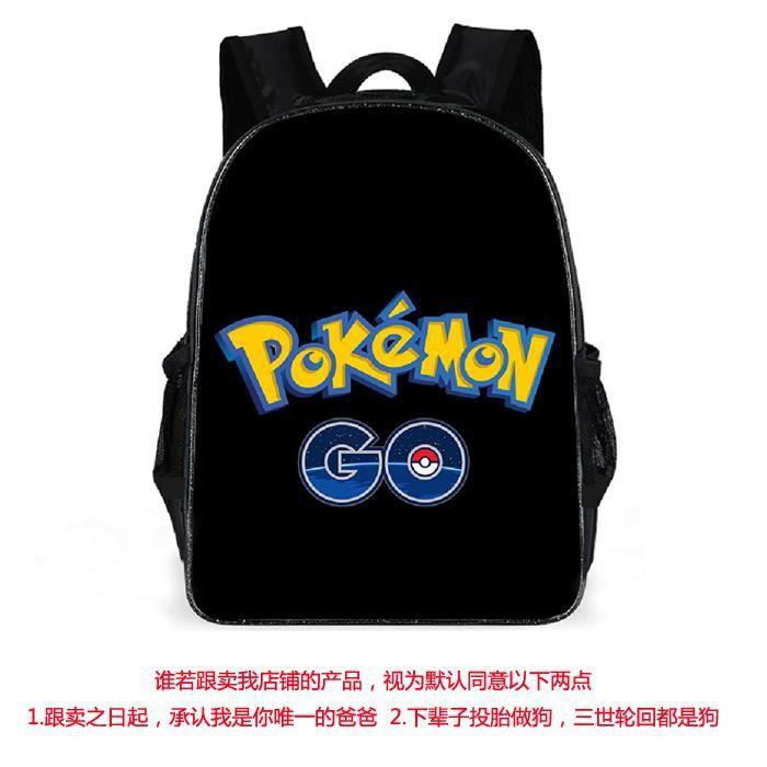 Sac à dos Enfants Pokemon Pikachu 16- nior Haut qualité cartable d'écolie réversible Sac à main Nouvelle mode 20