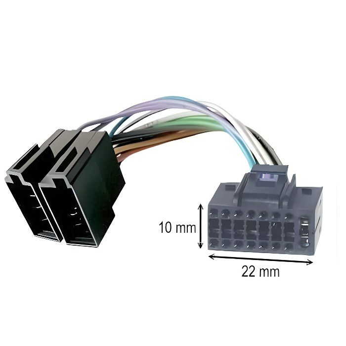 Cable adaptateur ISO autoradio JVC KD-R35 KD-R45 KD-R50 KD-R53 KD-R90BTE KD-R301