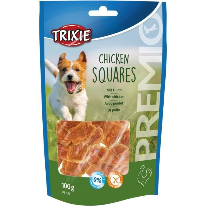 TRIXIE PREMIO Chicken Squares - Pour chien - 100 g