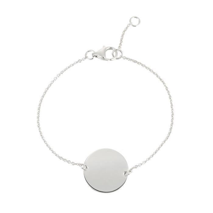 YSORA Bracelet Victoria Kiss Argent 925° Jeton Femme