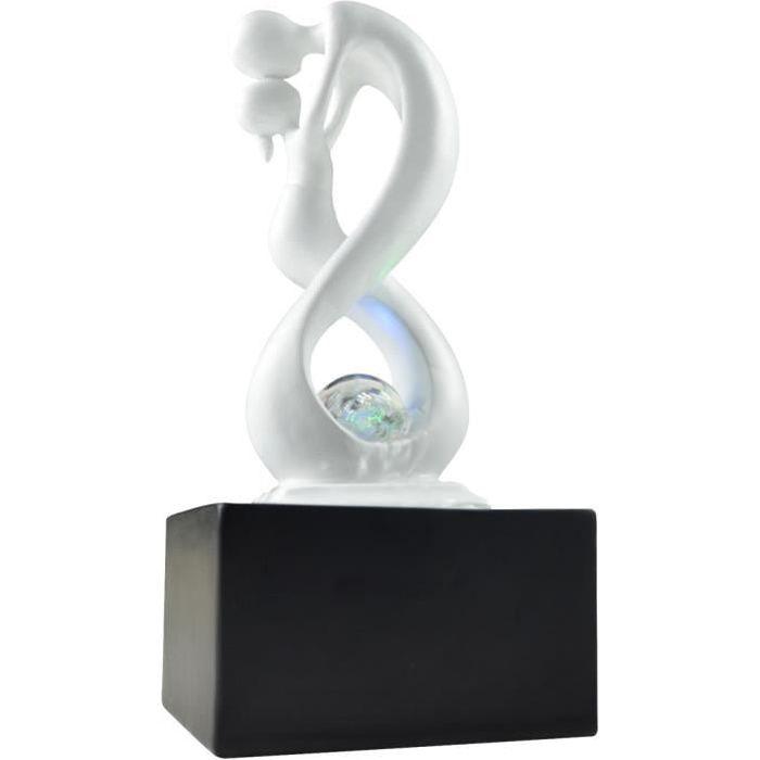 Fontaine d'intérieur design éclairage LED Amor Blanc et noir Blanc Et Noir