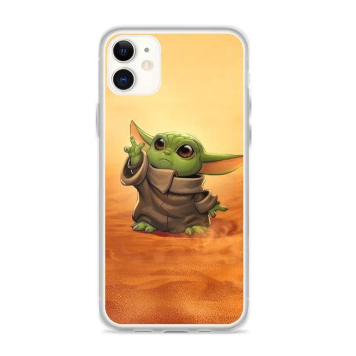 Coque iPhone 12/12 Pro - Baby Yoda - Jedi - Star W