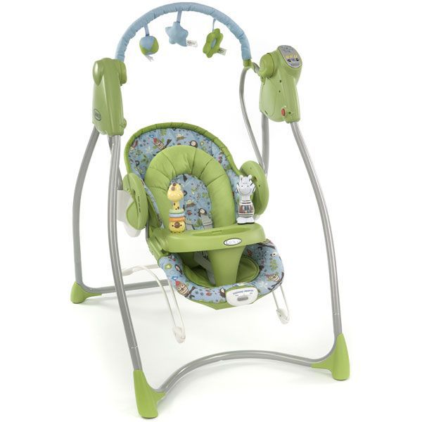 balancelle bebe eveil graco swing 39 n 39 bounce vert vert achat vente transat balancelle. Black Bedroom Furniture Sets. Home Design Ideas
