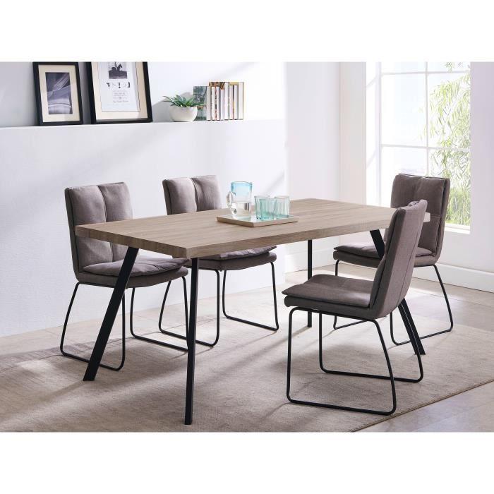 HECTOR Table à manger 6 personnes - Pieds en métal - L...