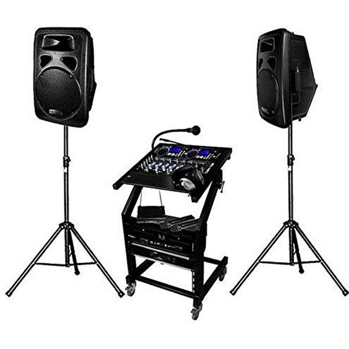 pack sono dj complet 1400 w dj leader 700 pack sono. Black Bedroom Furniture Sets. Home Design Ideas